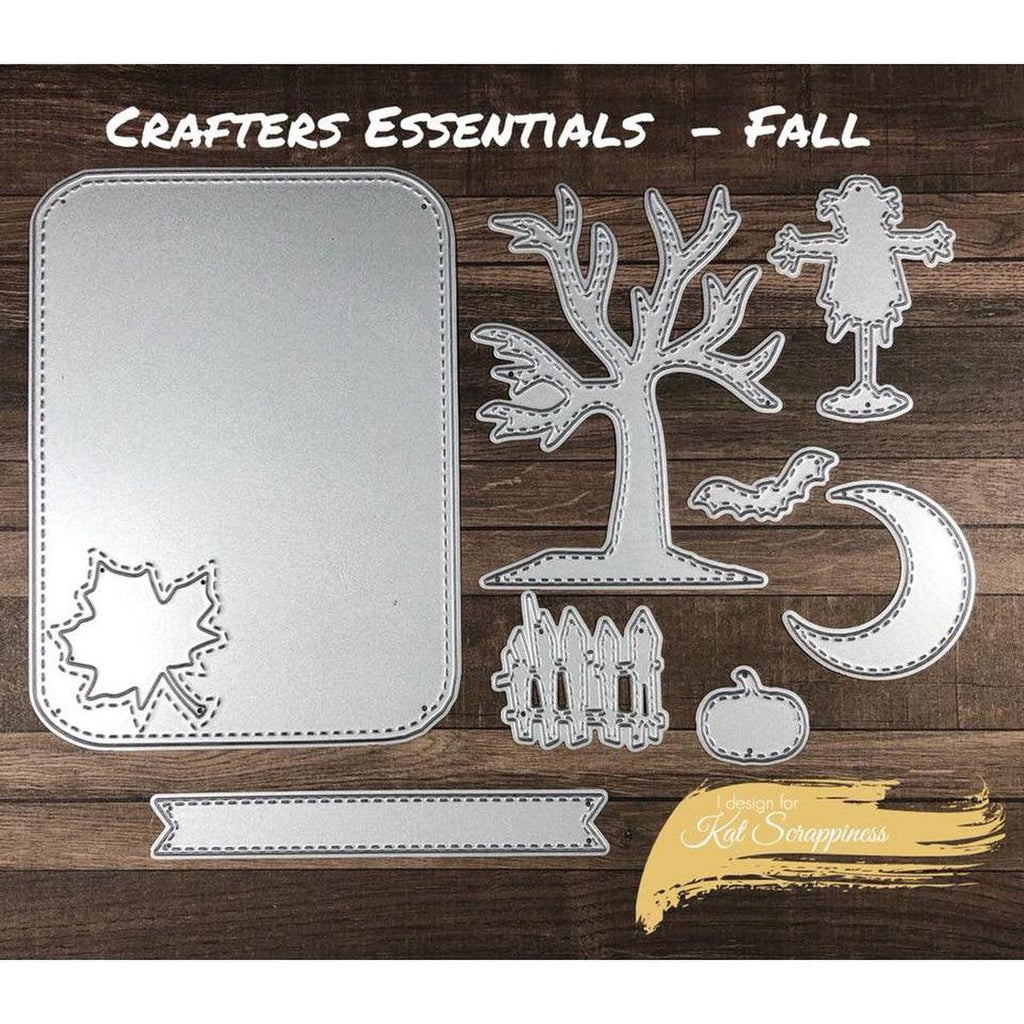 Crafters Essentials FALL Dies by Kat Scrappiness - Kat Scrappiness