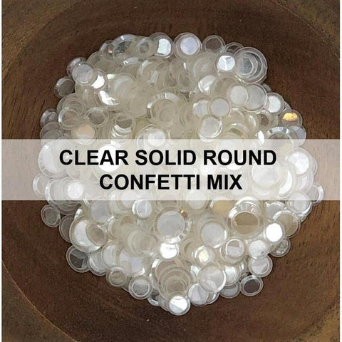 Clear Solid Round Confetti Mix - Sequins
