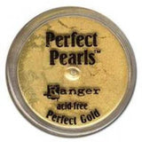 Perfect Pearls Pigment Powder .25oz - Perfect Gold - Kat Scrappiness