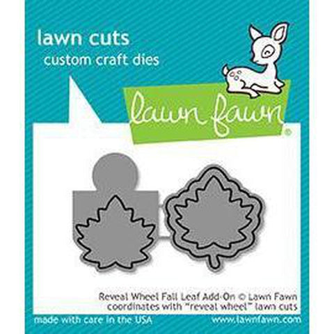 Reveal Wheel Fall Leaf Add-On Dies by Lawn Fawn - Kat Scrappiness