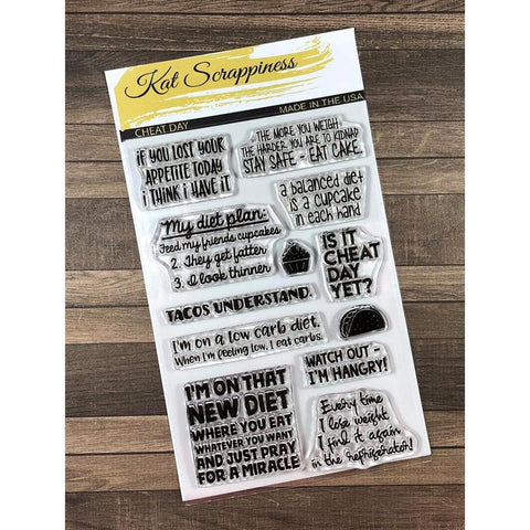 """Cheat Day"" Stamp Set by Kat Scrappiness - Kat Scrappiness"
