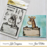 Giraffe Envelope Art Stamp Set by Kat Scrappiness