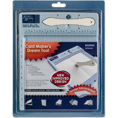"Scor-Buddy Eighths Mini Scoring Board 9""x7.5"" - Imperial - Kat Scrappiness"