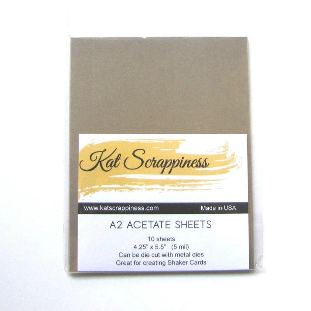 A2 Acetate Sheets by Kat Scrappiness - 10pc