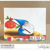 Traveling Gnome Cling Stamp Set by Stamping Bella - Kat Scrappiness