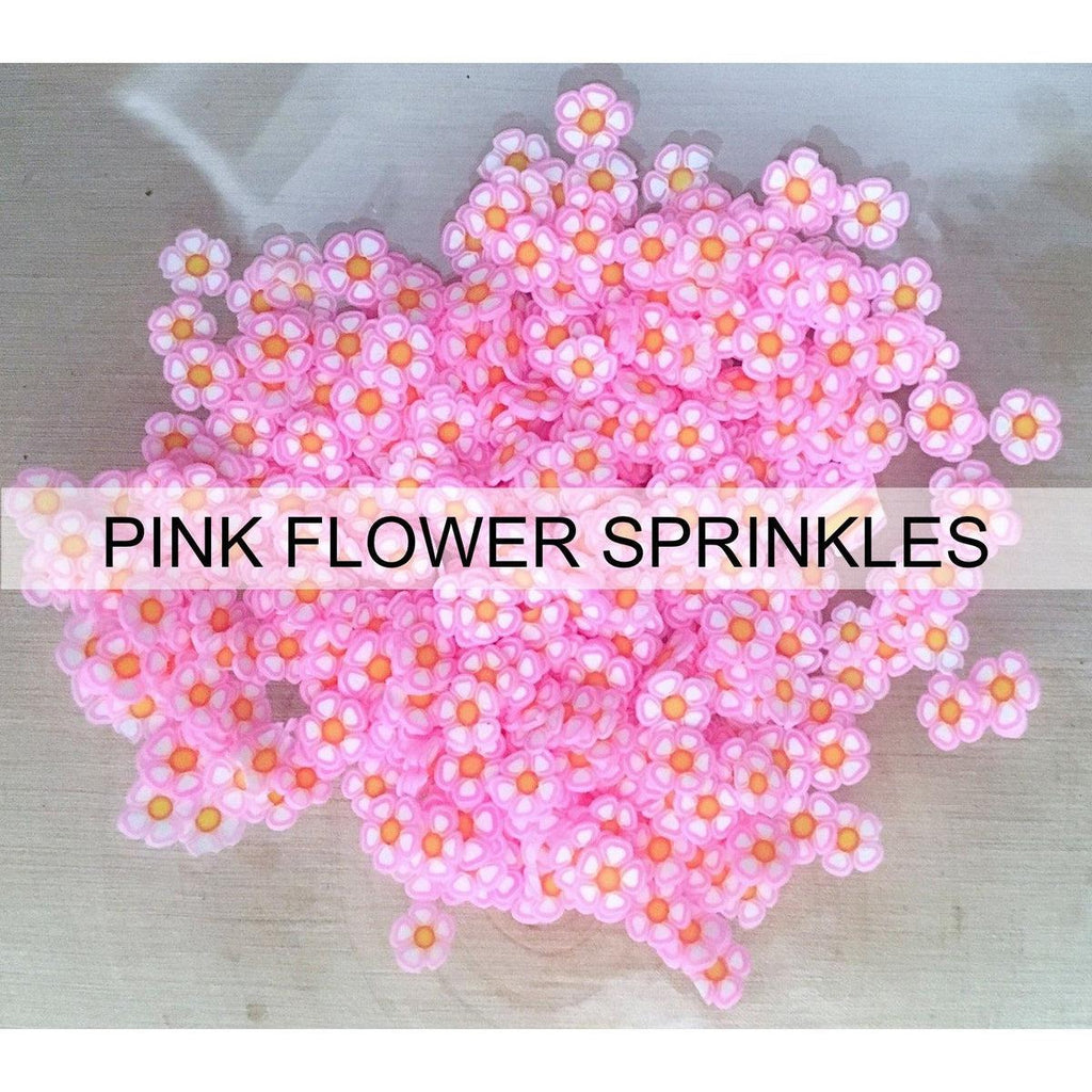 Pink Flower Sprinkles - Kat Scrappiness