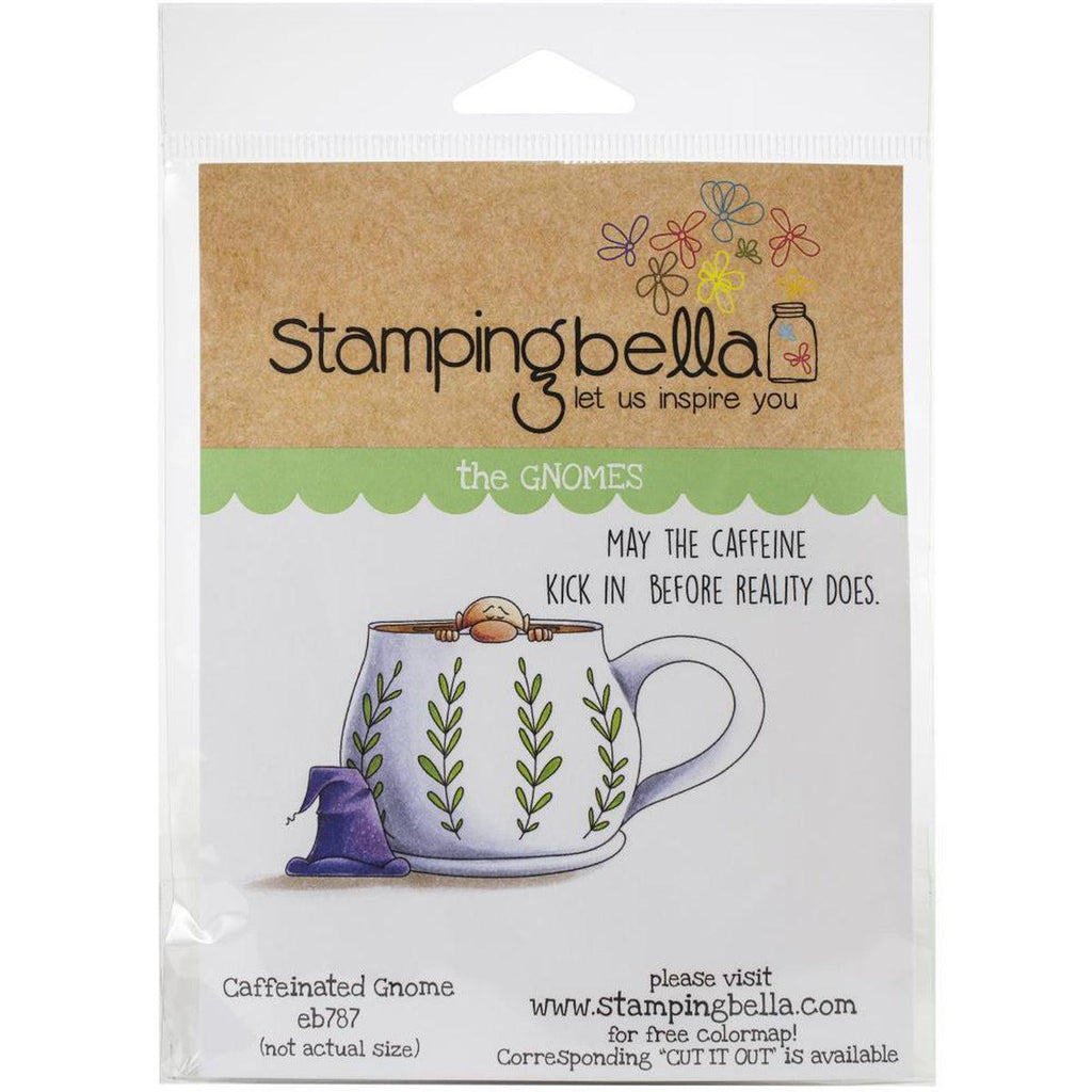Caffeinated Gnome Cling Stamp by Stamping Bella - Kat Scrappiness