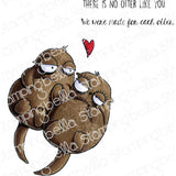 Oddball Otters Cling Stamp by Stamping Bella - Kat Scrappiness