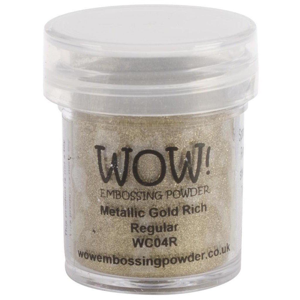 Metallic Gold Rich  Regular WOW! Embossing Powder 15ml - WC04R - Kat Scrappiness