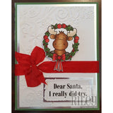 Riley In Wreath Cling Stamp by Riley & Co. - Kat Scrappiness