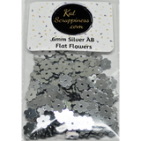 6mm Silver Flat Flower Sequins Shaker Card Fillers - Kat Scrappiness