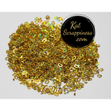 4mm Gold Heart Confetti Mix - Shaker Card Fillers - NEW! - Kat Scrappiness