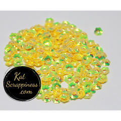 6mm Yellow Flower Blossom Sequins Shaker Card Fillers