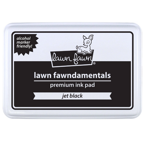 Jet Black Ink Pad by Lawn Fawn - Alcohol Marker Friendly! - Kat Scrappiness