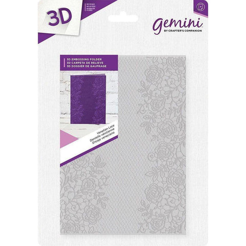 "Gemini Venetian Lace 3D Embossing Folder 5""X7"" by Crafter's Companion - Kat Scrappiness"