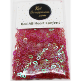 4mm Red AB Heart Confetti Mix - Shaker Card Fillers - NEW! - Kat Scrappiness