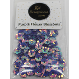 6mm Purple Flower Blossom Sequins Shaker Card Fillers - Kat Scrappiness