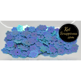 6mm Blue AB Flat Flower Sequins Shaker Card Fillers - Kat Scrappiness