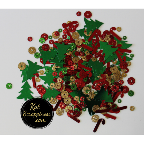 Holiday Sparkles Sequin Mix - Christmas Sequin Mix - Kat Scrappiness