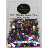 4mm Metallic Multi Colored Star Confetti Sequins - Shaker Card Fillers - NEW! - Kat Scrappiness