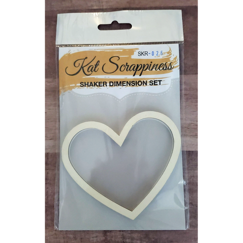 Medium Heart Shaker Card Kit by Kat Scrappiness - 026