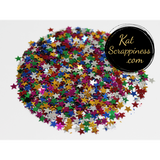 4mm Metallic Multi Colored Solid Star Sequins - Kat Scrappiness