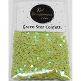 3mm Green Solid Star Confetti Mix - Shaker Card Fillers - Kat Scrappiness