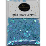 Blue (Hollow) Heart Confetti Mix - Shaker Card Fillers - Kat Scrappiness