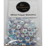 6mm White Flower Blossom Sequins Shaker Card Fillers - Kat Scrappiness