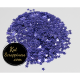 4mm Metallic Purple Solid Star Confetti - Kat Scrappiness