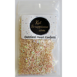Oatmeal Hollow Heart Confetti - Kat Scrappiness