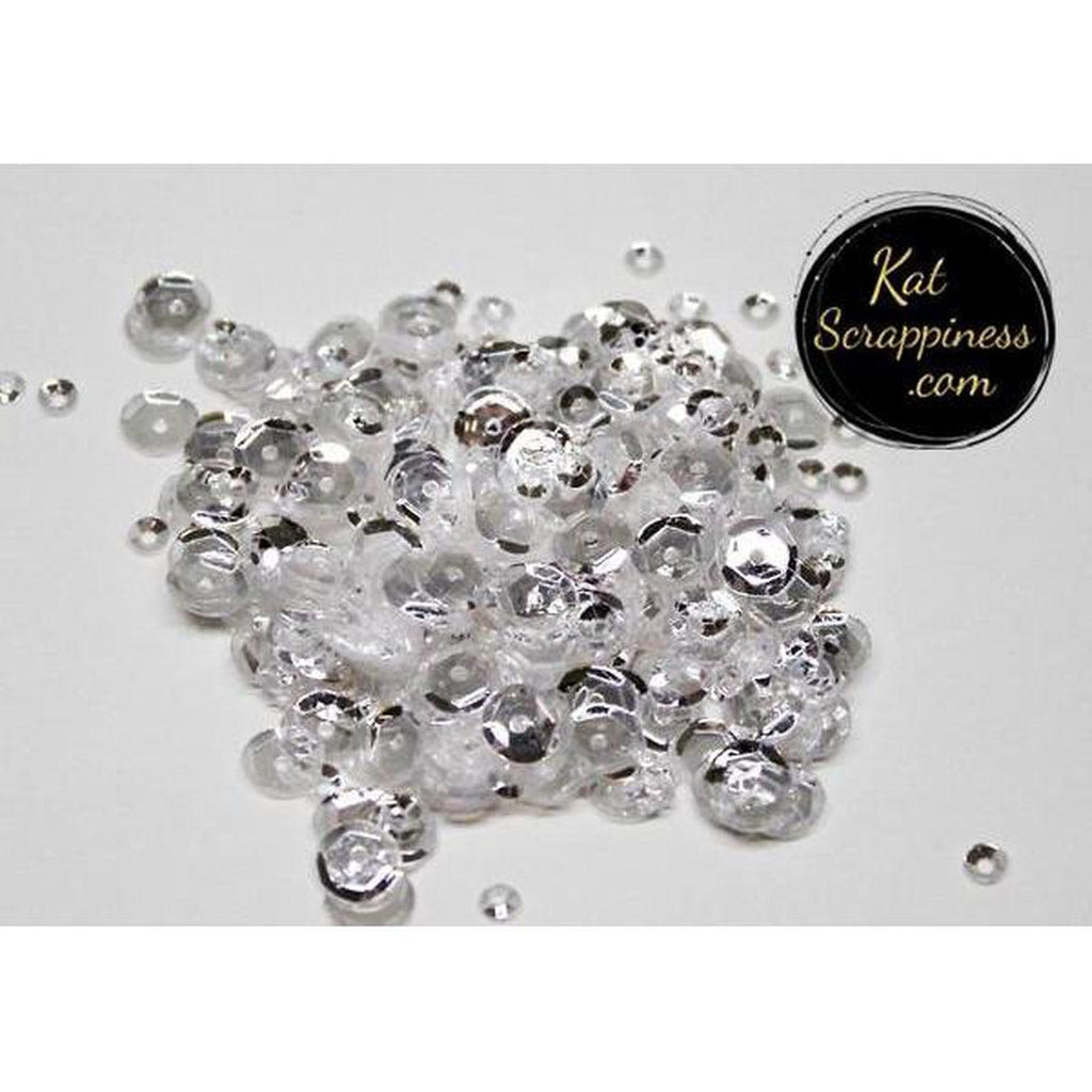 White Diamond Sequin Mix - Kat Scrappiness
