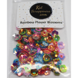 6mm Rainbow Flower Blossom Sequins Shaker Card Fillers - Kat Scrappiness