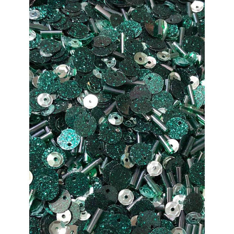 Sparkling Wintergreen Sequin Mix by Kat Scrappiness - Kat Scrappiness