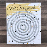 Embossed Edge Circle Dies by Kat Scrappiness - Kat Scrappiness