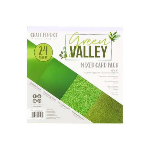 "Craft Perfect Mixed Card Pack 6""X6"" 24/Pkg - Green Valley"
