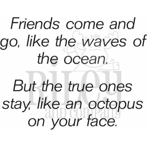 Friends Come Like Waves Cling Stamp by Riley & Co - Kat Scrappiness
