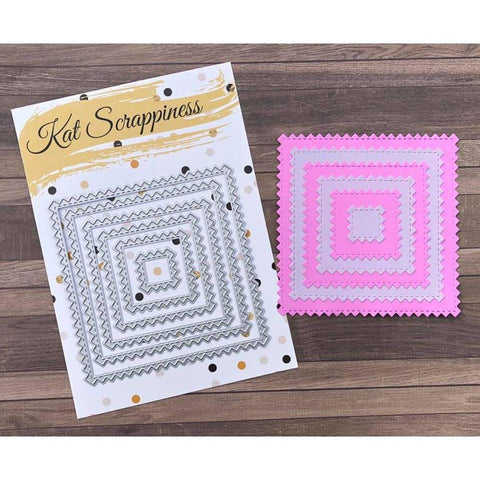 Zig Zag Square Dies by Kat Scrappiness - Kat Scrappiness