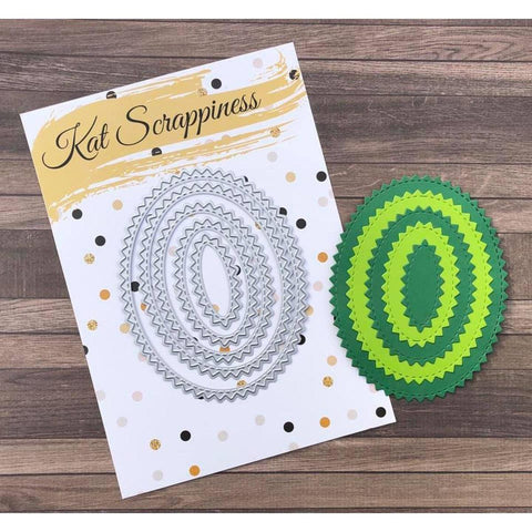 Zig Zag Oval Dies by Kat Scrappiness - Kat Scrappiness