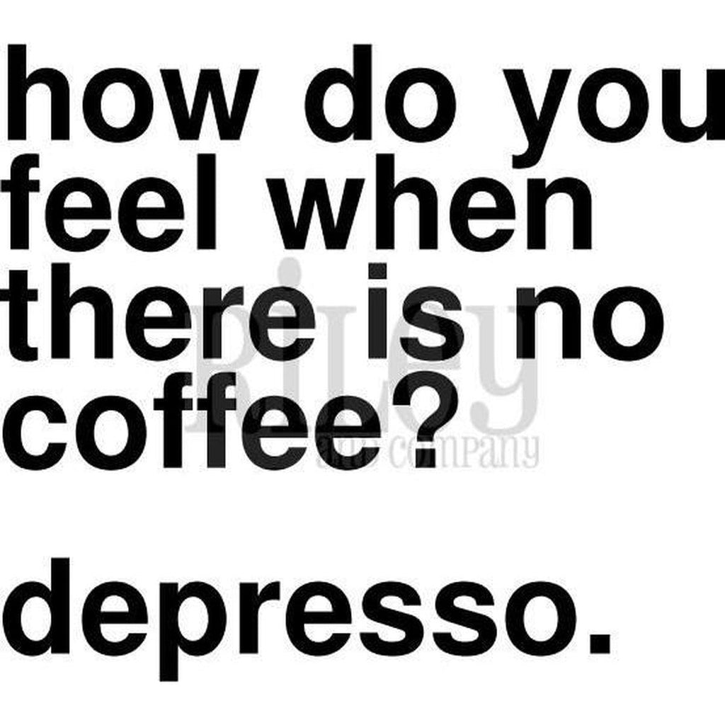 Depresso Cling Stamp