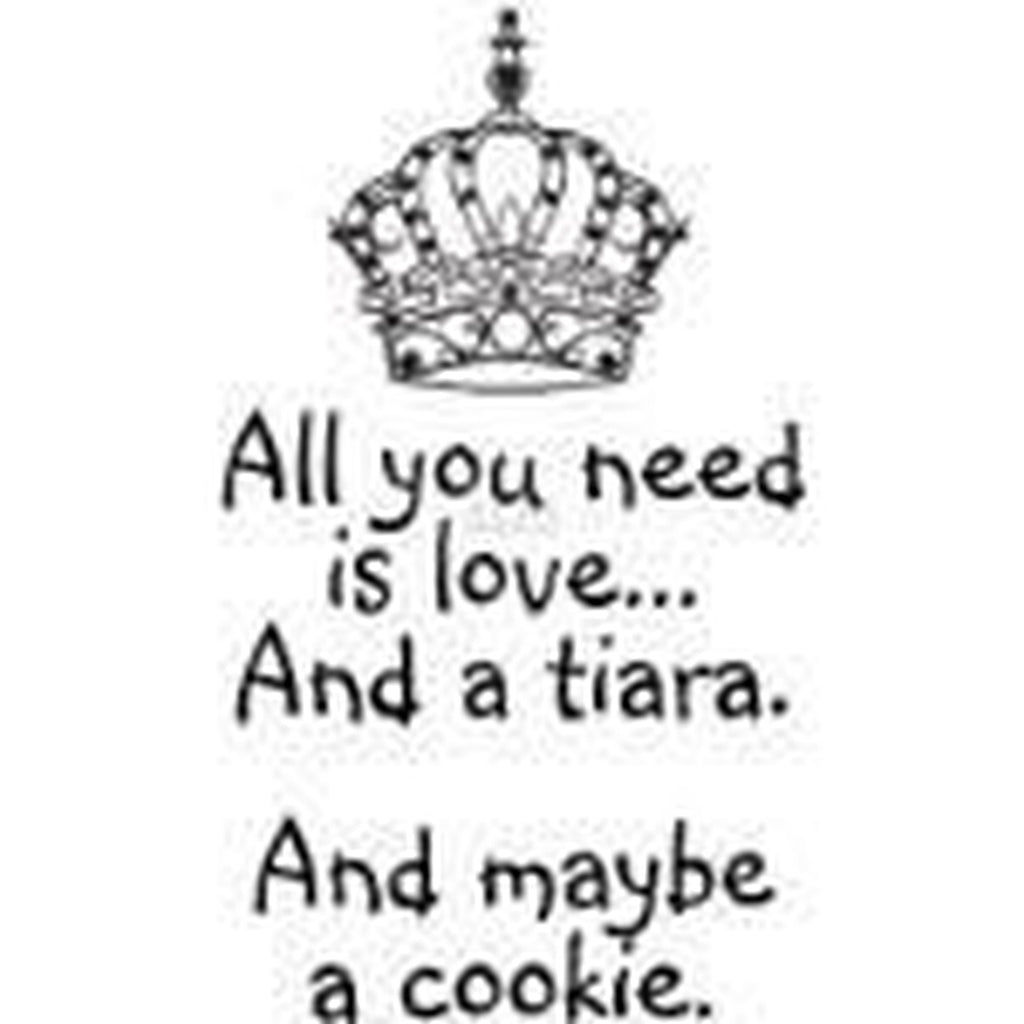 All You Need Is A Tiara Cling Stamp by Riley & Co - Kat Scrappiness