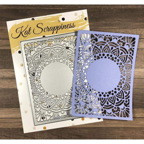 Medallion Coverplate Die by Kat Scrappiness - Kat Scrappiness