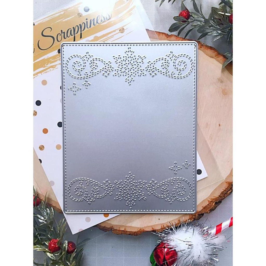 Stitched Snowflake Swirl Border Backdrop Die by Kat Scrappiness - Kat Scrappiness