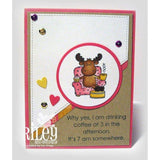 Coffee Riley Cling Stamp by Riley & Co - Kat Scrappiness