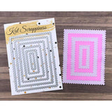 Zig Zag Rectangle Dies by Kat Scrappiness - Kat Scrappiness