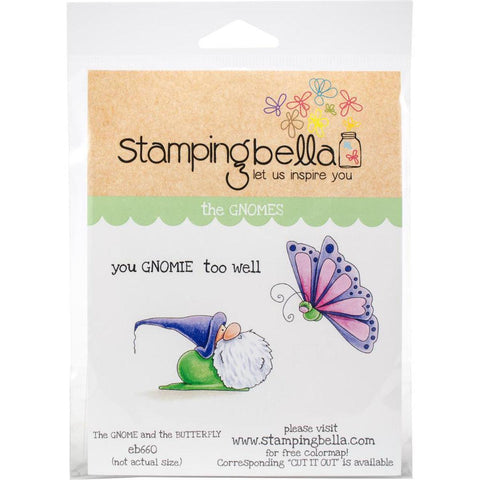 The Gnome & The Butterfly Cling Stamps by Stamping Bella