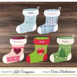 Build a Stocking (Christmas) Dies by Kat Scrappiness - Kat Scrappiness