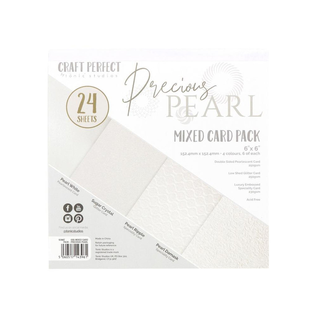 "Craft Perfect Mixed Card Pack 6""X6"" 24/Pkg - Precious Pearls"