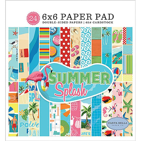 "Summer Splash 6""x 6"" Paper Pad by Carta Bella - Kat Scrappiness"