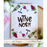 """Wine Not"" Stamp Set by Kat Scrappiness"